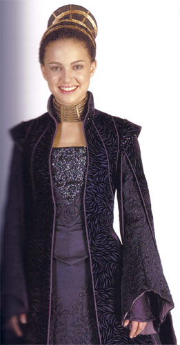 "This costume was originally worn by Natalie Portman in the movie ""Star Wars"